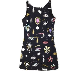 Boutique Moschino Vanity Print Babydoll Dress